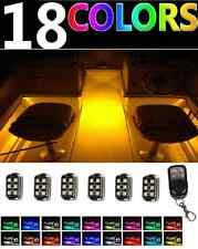 LED 6pc Boat Interior Marine Deck Lights Full Color Changing NEON Accent Pod Kit