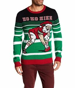Mens Ugly Christmas Sweater.Details About Mens Ugly Christmas Sweater Santa Football Sweater
