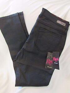 47 taglia wrangler patinato vita 83624174012 jeans skinny nero Ladies a media 27x31 Rock 7xTtcwvyqd
