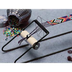 Wood-Weaving-Beading-Loom-Set-for-Jewelry-Bracelets-Necklaces-Make-DIY-Handm-DH