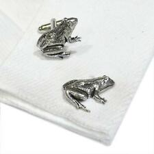 Pewter Frog CUFFLINKS Pond Toad Lover Club Party Christmas BIRTHDAY PRESENT