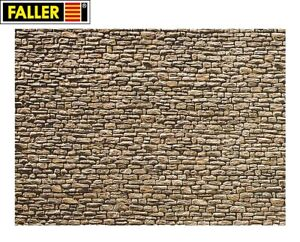 Faller-N-222566-Wall-Panel-034-Quarry-Stone-034-1m-New