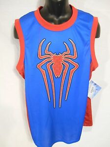 bfa549eaaa20 Marvel SPIDERMAN  62 Polyester Size L Blue Basketball Jersey SR 34 ...