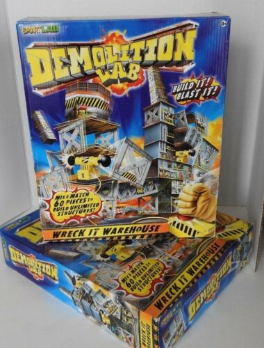 SmartLab Demolition Lab Wreck It Warehouse with Double Blasters. NIB – LOT of 2