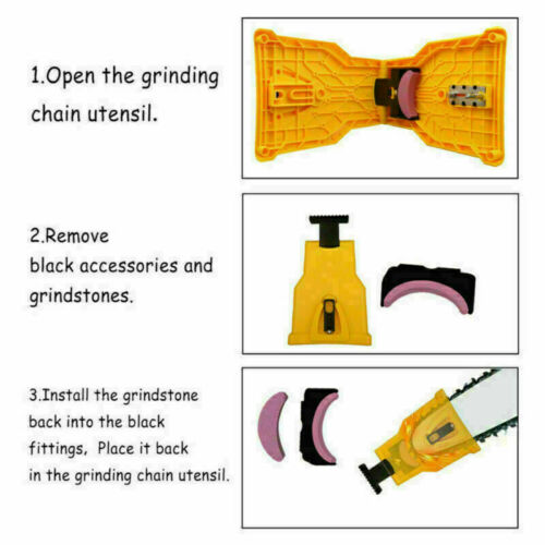 4X Woodworking Chainsaw Teeth Chain Saw Sharpener Sharpening Stone Grinding Tool