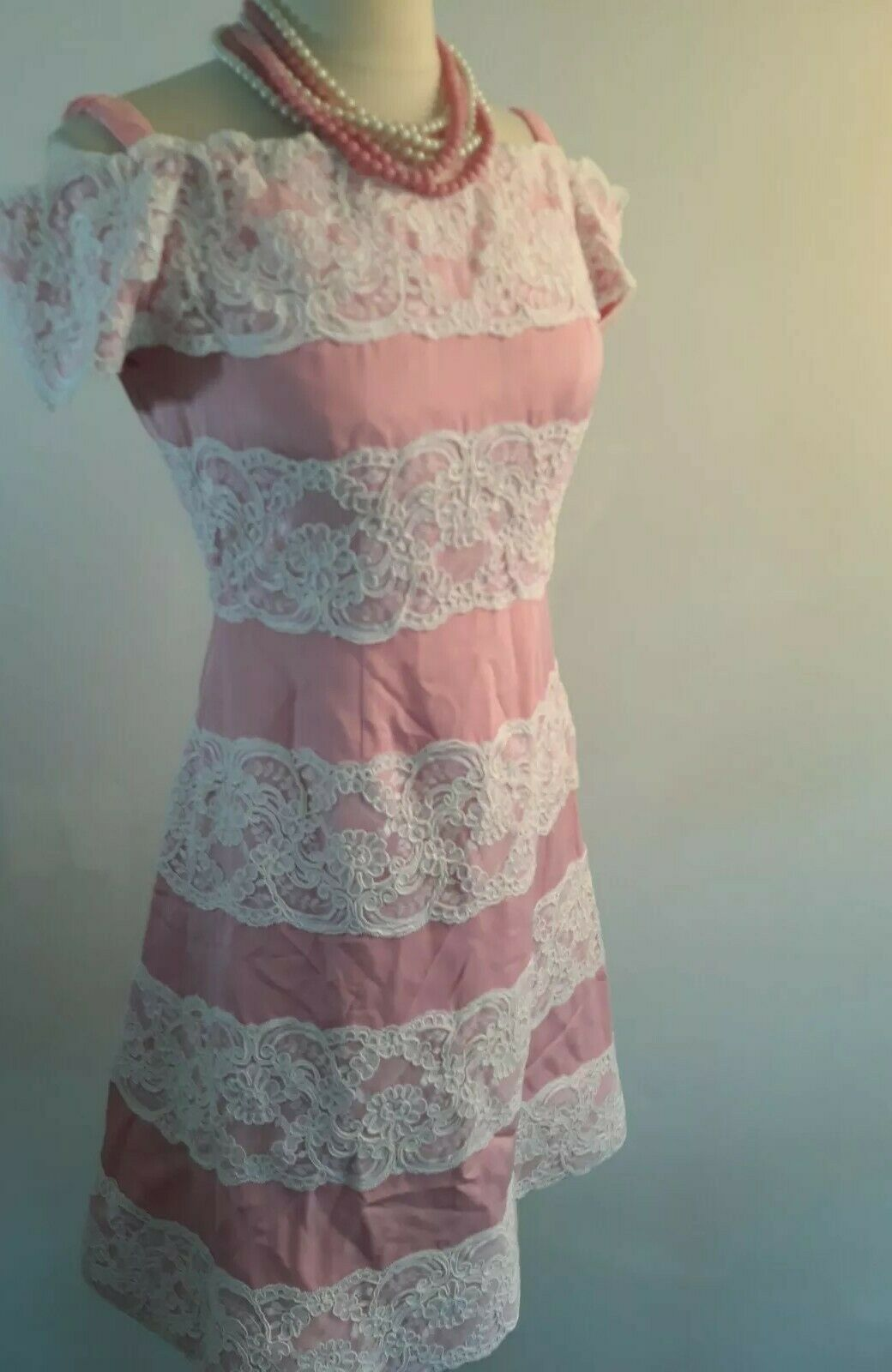 Vintage 80s  Scaasi Boutique Sax Fifth Ave Pink& … - image 4