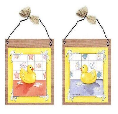 Rubber Duckies Bath Time Yellow Ducks