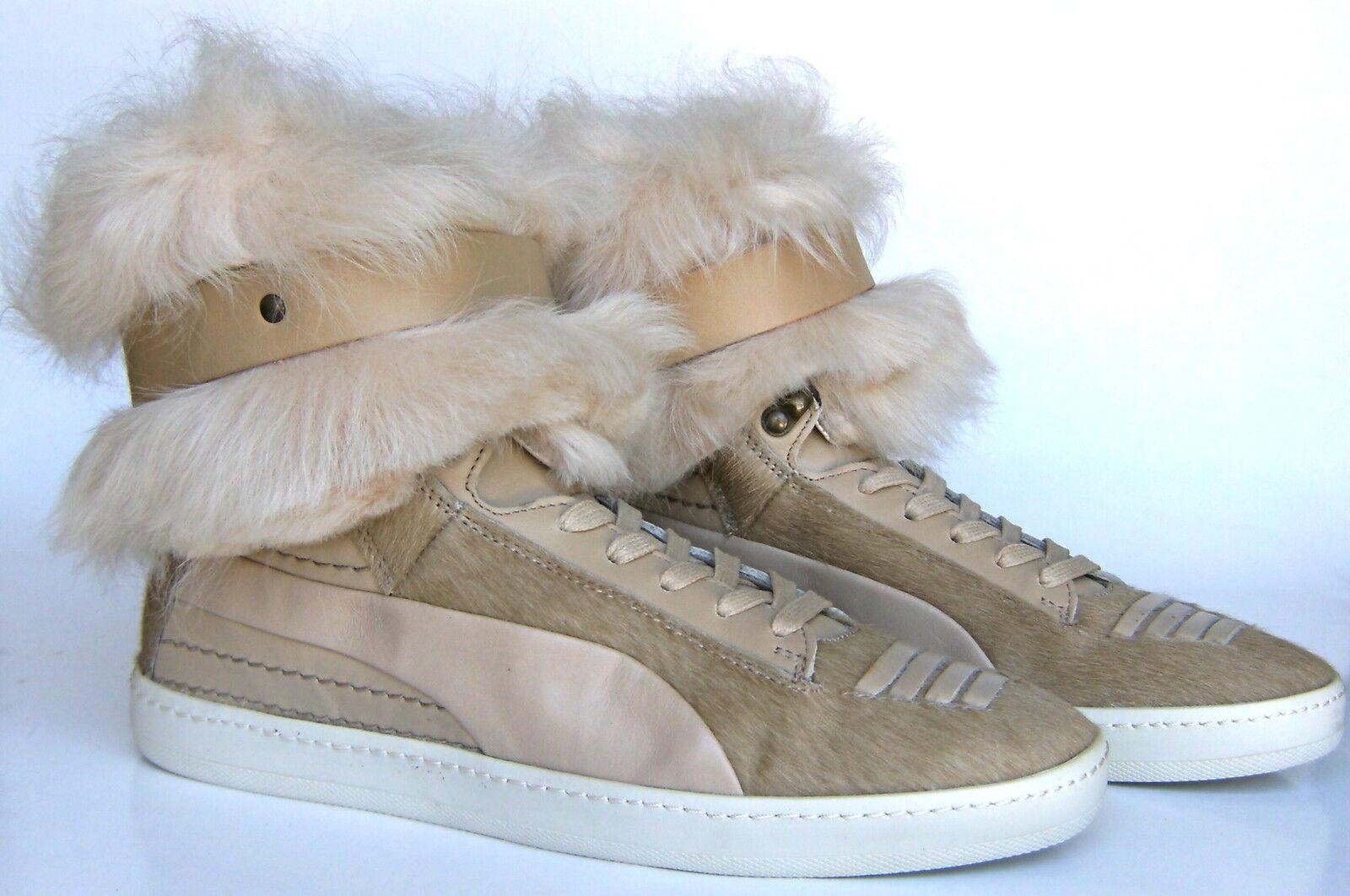 Puma Alexander McQueen fourrure Joustesse Hi baskets démarrage Chaussures Wear Wear Wear 2 Way femmes 10.5 4935ef