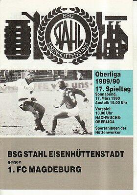OL 89//90 Fortschritt Bischofswerda FC Carl Zeiss Jena