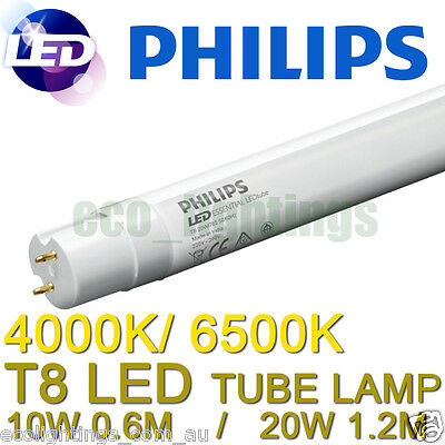 LED Philips Core Pro T8 Fluorescent Tube Lamp 10W or 20W 60cm 120cm 4000K 6500K