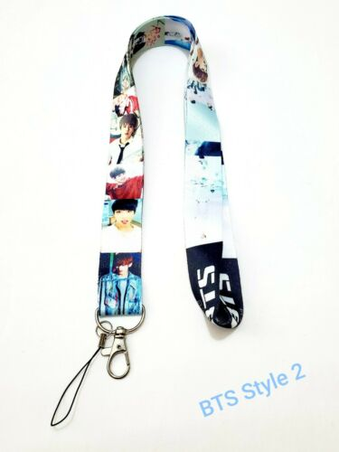 BTS Lanyard Keychain ID Phone Camera Holder 6 Styles Available