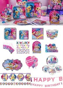 Image Is Loading NEW Party Tableware Shimmer And Shine Birthday