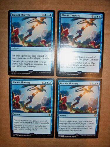 MTG Magic 4x Blatant Thievery Explorers of Ixalan NM//M