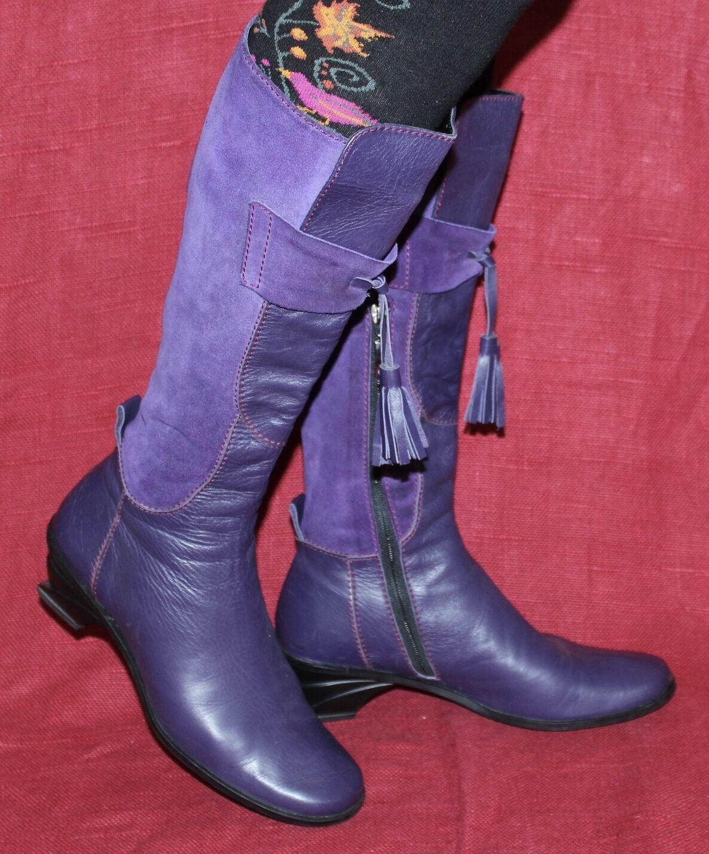 Harlot señora Echt Leder botas 38 38 38 tacón de cuña Leather botas de cuña cuero negro  promociones emocionantes