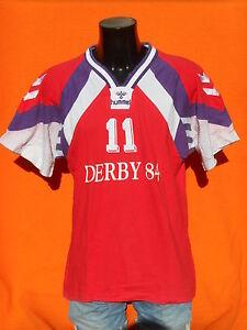 HUMMEL-Maillot-Jersey-Trikot-Porte-Worn-Vintage-90s-11-Derby-84-Handball-France