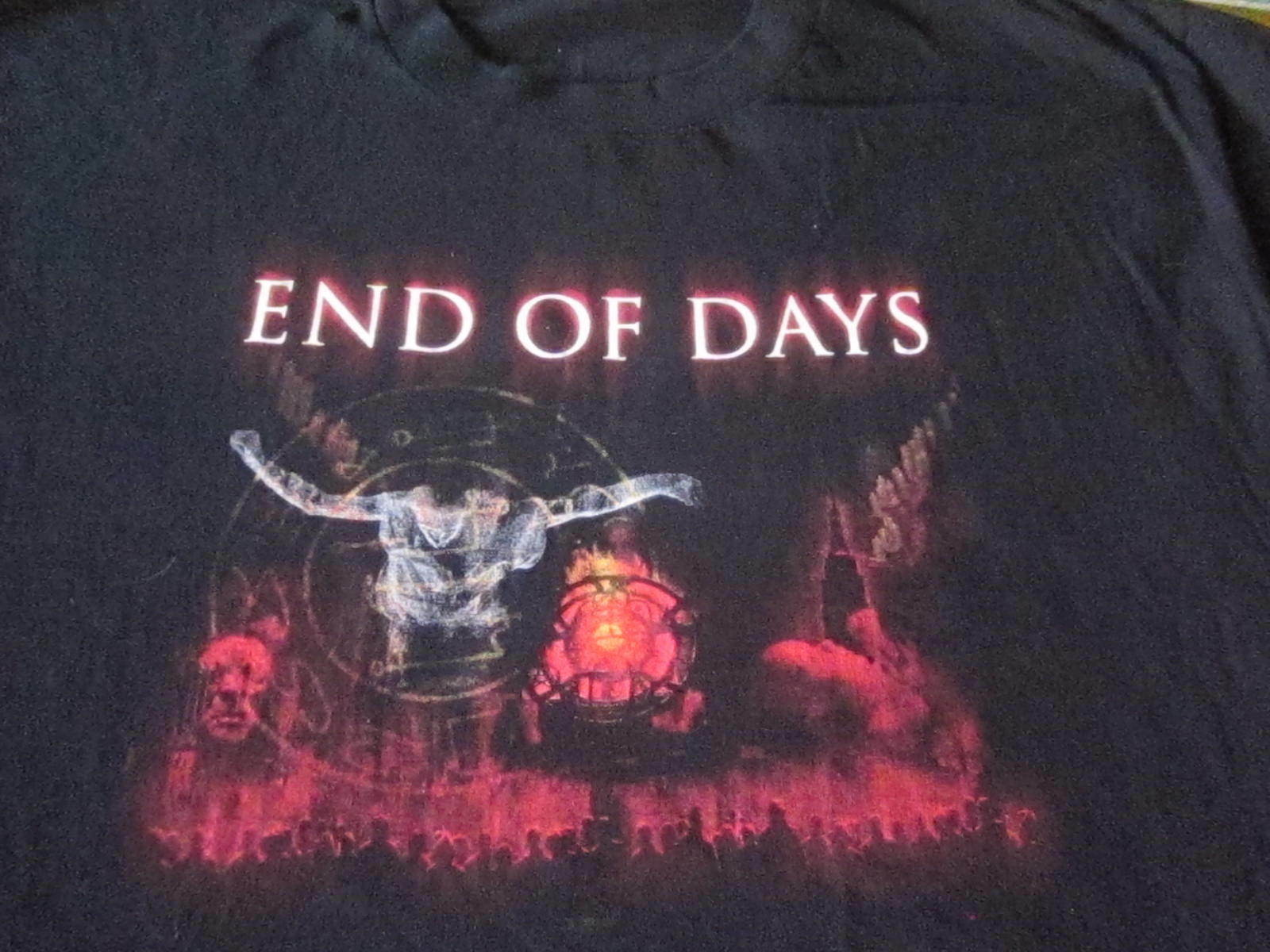 END OF DAYS PROMO TEE SHIRT XL MOVIE CLEAN