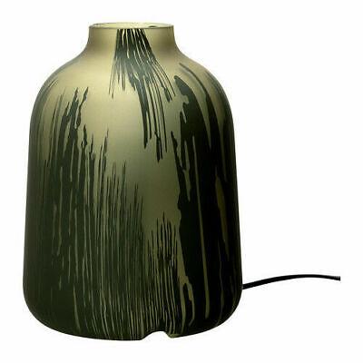 IKEA Koppar Table Desk Accent Lamp Light Frosted Green Glass Urn Jug Vase Shape   eBay