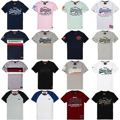 Superdry T Shirts Superdry Classic Graphic Tees Premium Ware Vintage Logo | eBay