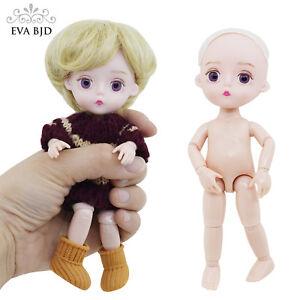 "1/8 Boy 15cm 5.9"" SD BJD Doll jointed dolls PVC Soft Head + Clothes Wig Shoes"