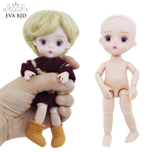 1/8 Boy 15cm 5.9 SD BJD Doll jointed dolls PVC Soft Head + Clothes Wig Shoes
