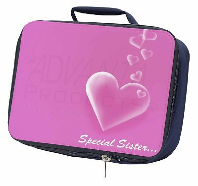 'special Sister' Sentiment Navy Insulated School Lunch Box Bag, Love-sis1lbn