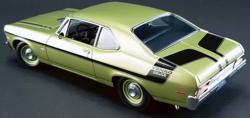 1970  Chevrolet Nova vert 18831 GMP YENKO  les derniers modèles