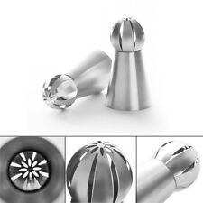 7X Sphere Ball Tip Nozzles Icing Piping Russian Nozzle DIY Cake Baking Tool G6O