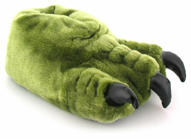 195afe638 Mens Gents Green Novelty Monster Claw Slippers Ideal Christmas Gift UK Size