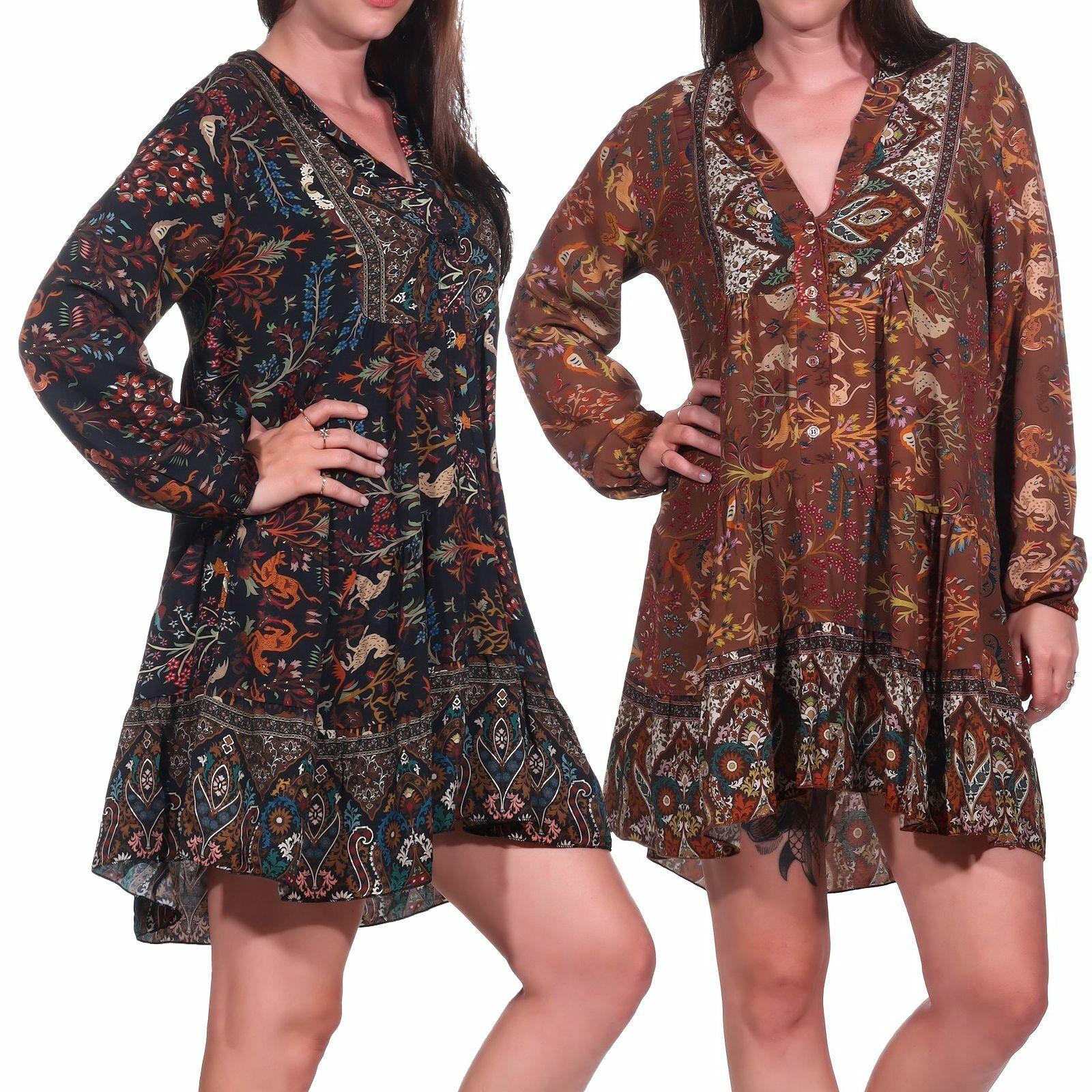 Ladies Dress Womens Dress bohokleid Mini Dress Boho Tunic 100% VISCOSE Hailys Ona