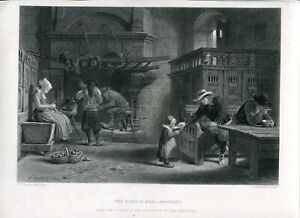 The-Homely-Meal-Brittany-Engraving-By-J-Godfrey-Of-A-Dibijo-Of-F-Goodall