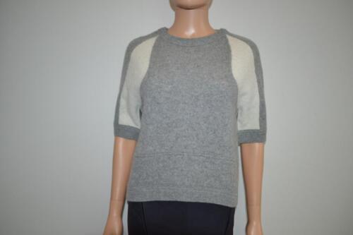 Grå Ivory W P Kashmir Detail Si Nwt Sweater Kortærmet iae Sz 288 Ret tECwITnwxq