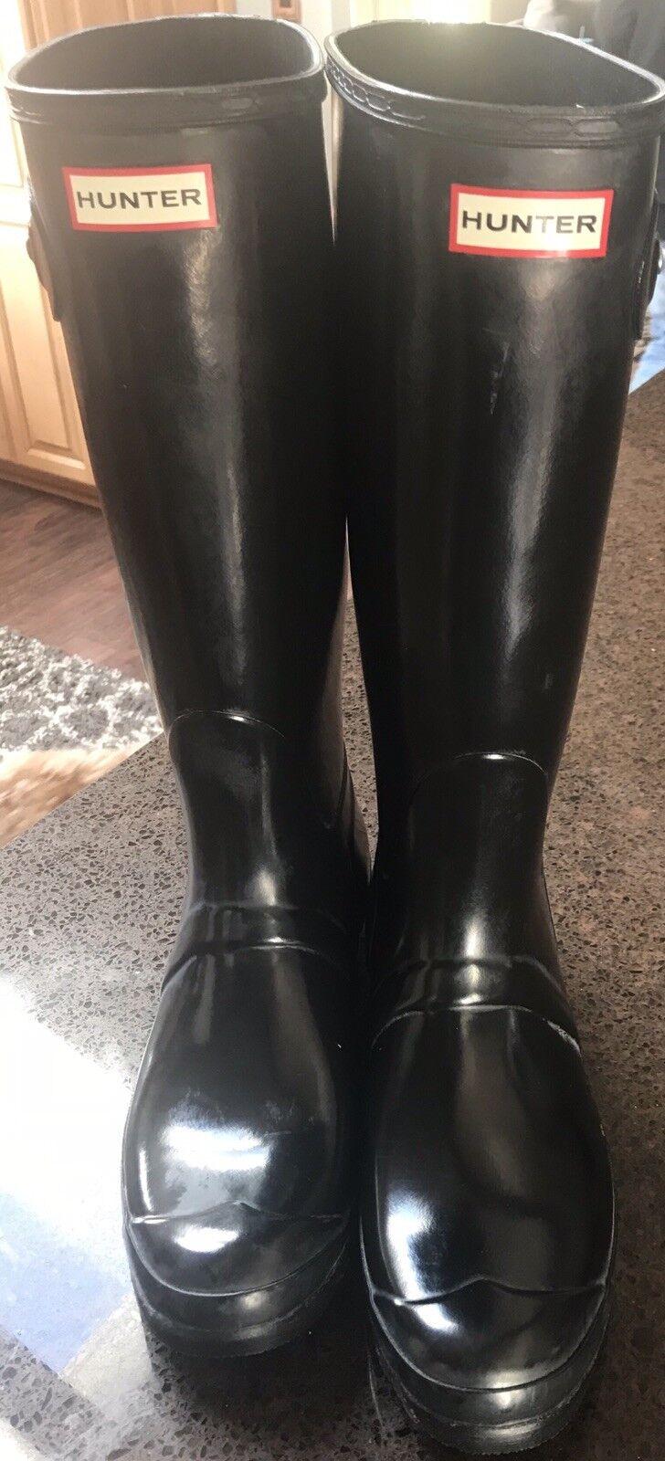 NEW Womens Womens Womens HUNTER Boots Size 10 Black a7a235