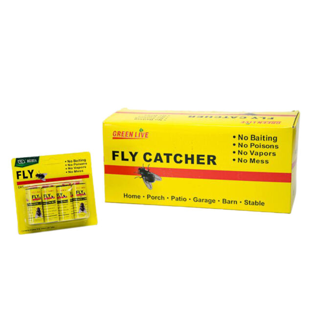 16 Rolls Insect Bug Fly Glue Paper Catcher Trap Ribbon Tapa Strip Sticky Fie FSA