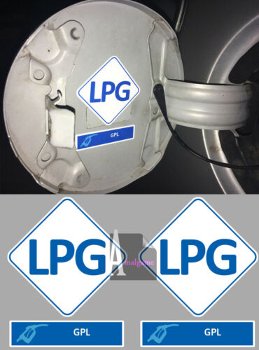 5cm SET DE 2 X CARBURANT GAZ GPL LPG AUTOCOLLANT STICKER TAILLE