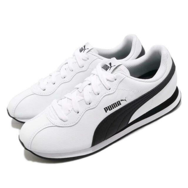 Size 9.5 - PUMA Turin 2 White Black for sale online | eBay