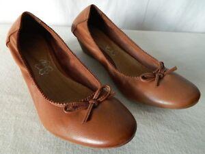 ce75facf14e ANDRE Chaussures ballerines talon compensé élastique CUIR marron 36 ...