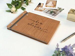 d8c287f25c6f7 Details about Wedding Guest Book Wood Guest Book Guest Book Photobooth  Guestbook Wooden Album