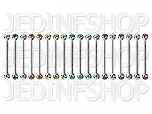 16g Barra de andamio Barbell Industrial1.2mm - 30mmDoble Gem 18 Colores
