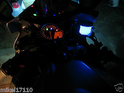 1 Blue LED Motorcycle Accent String Light Neon Custom Brake Reservoir Yamaha