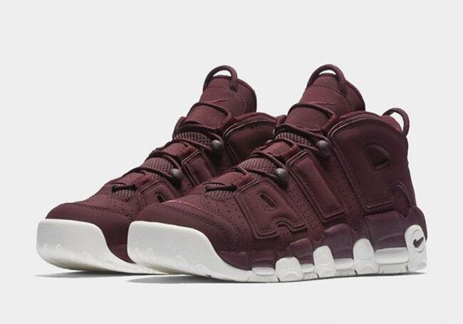 2016 Nike Air More Uptempo Maroon Size 8. 921949-600 Jordan Foamposite Pippen