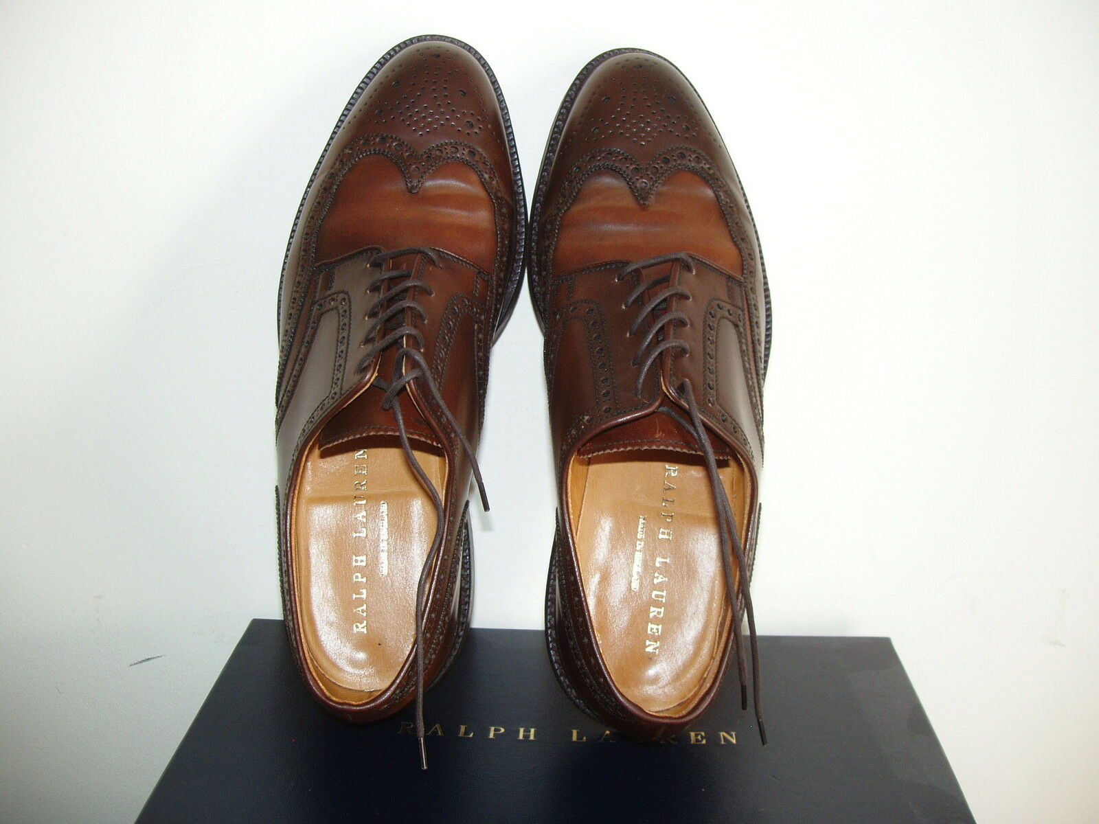 RALPH LAUREN Cordovan Con Lacci Brogues Shoes