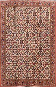 Vintage-Geometric-Ivory-Anatolian-Turkish-Oriental-Area-Rug-Hand-knotted-7x9-ft