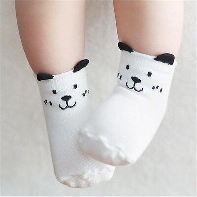 Kids Newborn Baby Boy Girl Cartoon Ankle Socks Knee High Infant Toddler Non-slip
