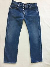 Mens LEVIS 501 XX Classic Straight Fit Blue Jeans Size W 32 L 30  Great  cond