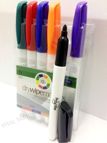 Dry wipe Whiteboard Markers Set// Permanent Markers Office School Stationery Pens