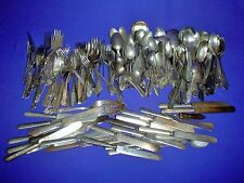 Vintage Craft Silverplate Flatware 200Pc 18# Silverware Spoons Forks Knives