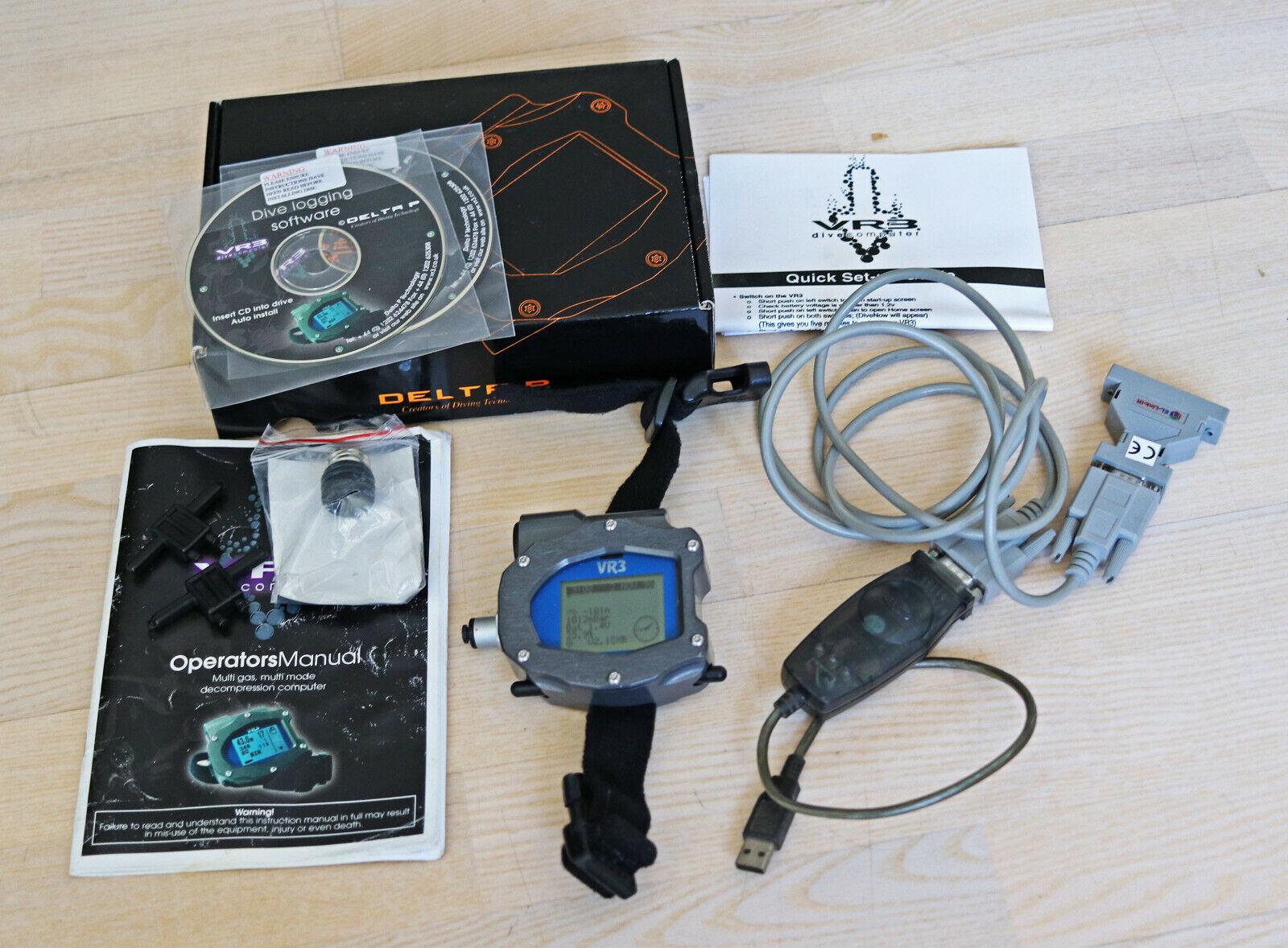 Delta P VR3 C3 Nitrox   Trimix Tauchcomputer mit download kit