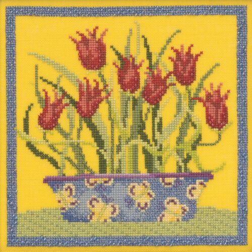 Tulips Cross Stitch Kit Mill Hill 2019 Debbie Mumm Blooms Blossoms