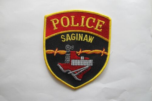 COLLECTIBLE SAGINAW POLICE EMBROIDERY APPLIQUE PATCH-B04