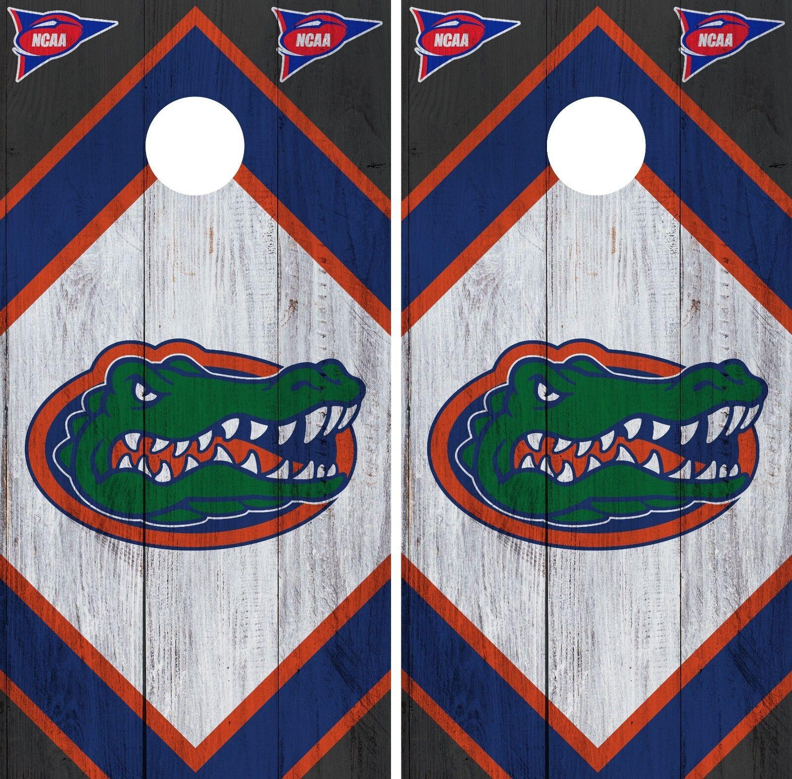 Florida Gators Cornhole Wrap NCAA  Game Board Skin Vinyl Decal Wood Set CO737  online discount